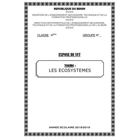 LES ÉCOSYSTÈMES - EXPOSE DE SVT 6ème