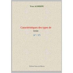Compétences de lecture : caractéristiques des types de texte (1er et 2nde cycles)