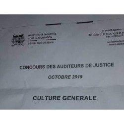 Concours des auditeurs de justice d'octobre 2019, épreuve de Culture générale