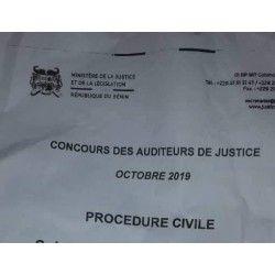 Concours des auditeurs de justice d'octobre 2019, épreuve de Procédure civile