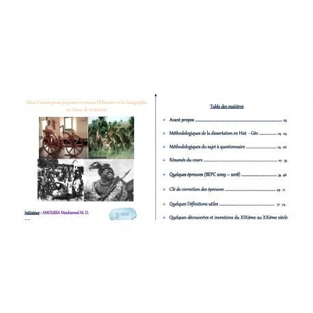 L'Histoire et la Géographie en 3ième
