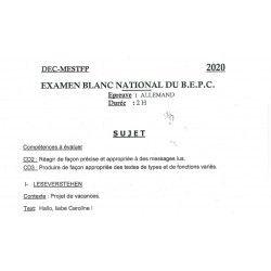 SUJET ET CORRIGE BEPC BLANC NATIONAL 2020 ALLEMAND