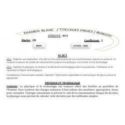 BEPC BLANC 2020 DES COLLÈGES PRIVÉS DE BORGOU PCT