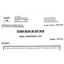 CEP BLANC NATIONAL 2020 COMPRÉHENSION DE L'ÉCRIT
