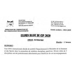 SUJET ET CORRIGÉ TYPE CEP BLANC NATIONAL 2020 MATHÉMATIQUES