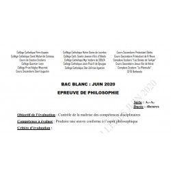 SUJET ET CORRIGÉ BAC BLANC DES COLLÈGES CATHOLIQUES DE L'ATLANTIQUE ET DU LITTORAL PHILOSOPHIE SERIE A1 A2 JUIN 2020