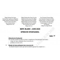 BEPC BLANC DES COLLÈGES CATHOLIQUES DE L'ATLANTIQUE ET DU LITTORAL ESPAGNOL JUIN 2020