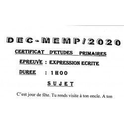 SUJET CEP 2020 EXPRESSION ÉCRITE